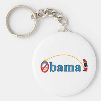 Pee on Obama Basic Round Button Key Ring
