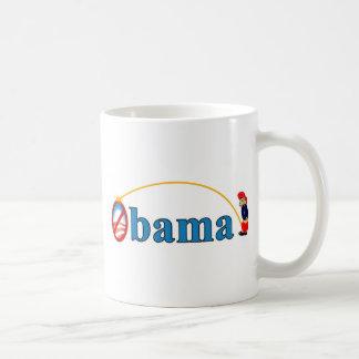Pee on Obama Basic White Mug
