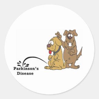 Pee on Parkinson s Disease Round Sticker