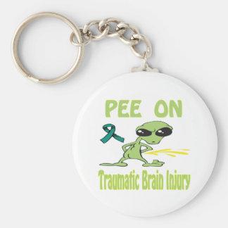 Pee On Traumatic Brain Injury Keychain