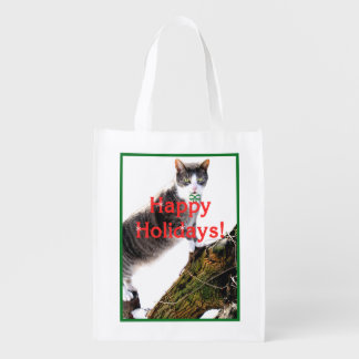 """Pee Wee"" Happy Holidays Reusable Bag Grocery Bags"