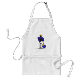 pee wee kids football player blue standard apron