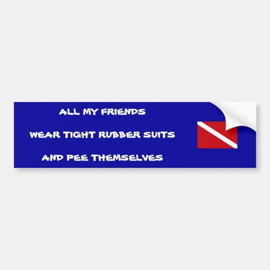 Peeing Diver Bumper Sticker #1