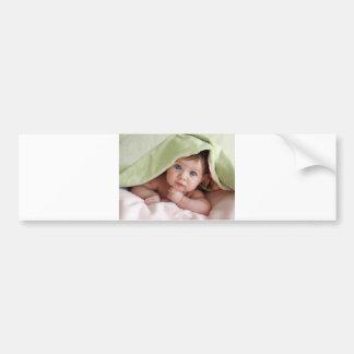 Peek-A-Boo Baby Car Bumper Sticker