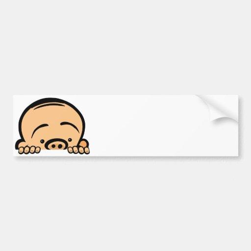 Peek a boo baby bumper stickers