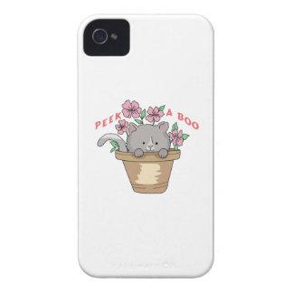 PEEK A BOO CAT iPhone 4 CASES