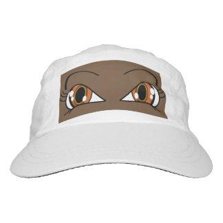 Peek A Boo Eyes Brown Hat