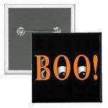 Peek a BOO! Halloween Eyes 15 Cm Square Badge