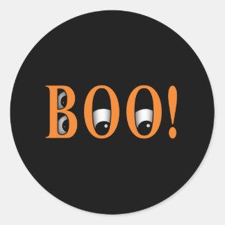 Peek a BOO! Halloween Eyes Round Sticker