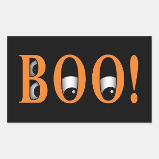 Peek a BOO Halloween Eyes Rectangle Stickers