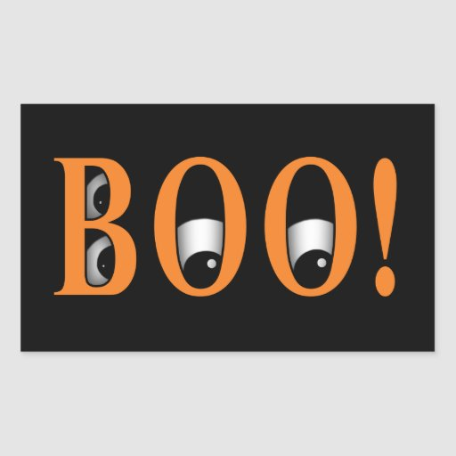 Peek a BOO! Halloween Eyes Rectangle Stickers