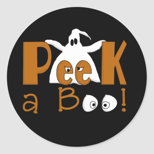 Peek A Boo Halloween T-shirts and Gifts Sticker