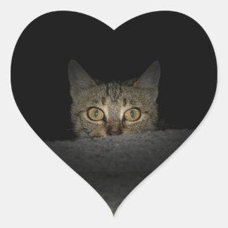 Peek a boo heart sticker