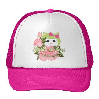 Peek-a-boo I love you Trucker Hats