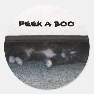 PEEK A BOO, KITTEN stickers