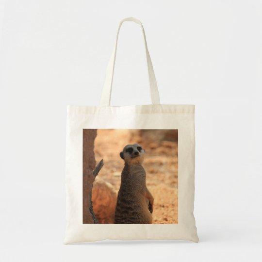 Peek-a-Boo Meerkat Tote Bag, Zoo Babies