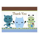 Peek a Boo Monster Baby Shower Thank You Card Custom Invitations