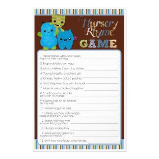 Peek a Boo Monsters Baby Shower Game Nursery Rhyme 14 Cm X 21.5 Cm Flyer