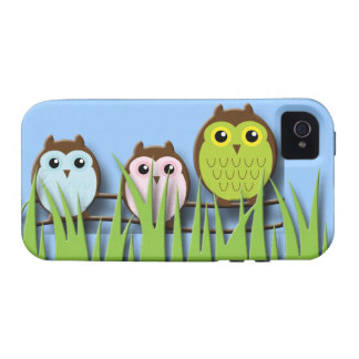 Peek a Boo Owls Vibe iPhone 4 Cover