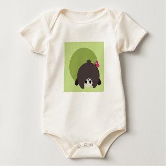Peek-A-Boo Panda - Organic Baby Bodysuit