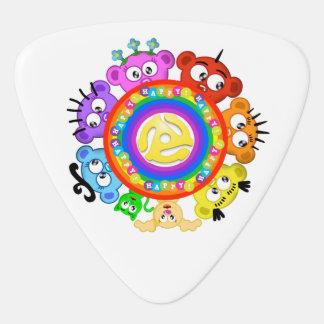 Peek-A-Boo Planet RECORD CENTER PIECE :) Pick Guitar Pick