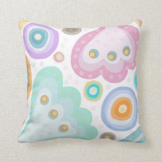 Peek A Boo. Pretty Pastel Print of fantasy flowers Cushion