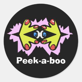 Peek-a-boo Round Sticker