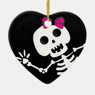 peek a boo skeleton christmas ornament