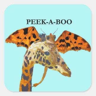 Peek-a-boo Square Sticker
