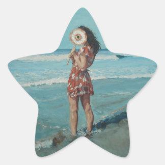 Peek a boo star sticker