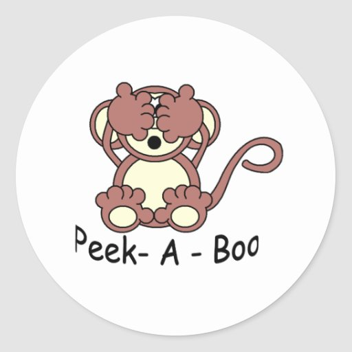 Peek- A - Boo Sticker