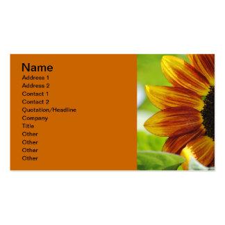 Peek A Boo Sunflower Business Card