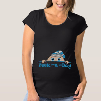 Peek a Boo Winter Maternity T-Shirt