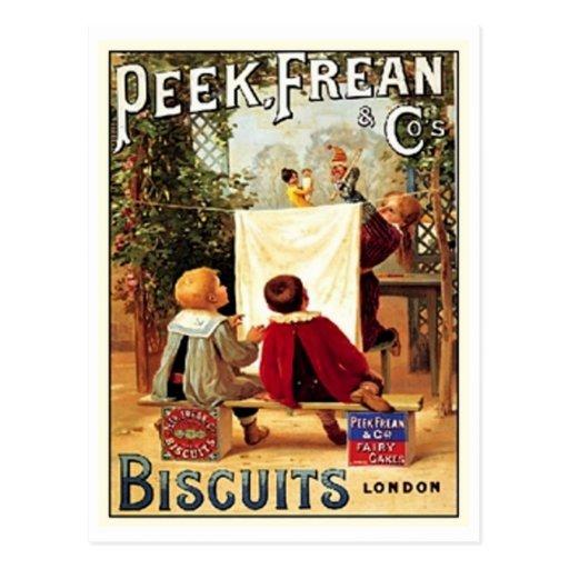 Peek Frean Cos. Biscuits London Vintage Ad Postcards