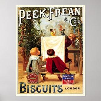 Peek Frean Cos. Biscuits London Vintage Ad Poster