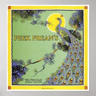 Peek Frean's Peacock Ad Poster