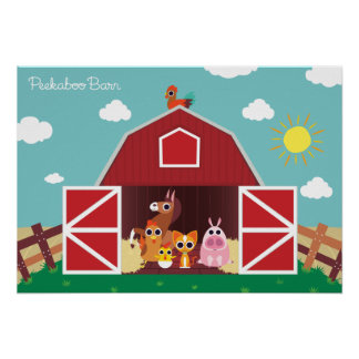 Peekaboo Barn Daytime Landscape Group 1 Poster