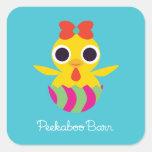 Peekaboo Barn Easter   Bayla the Chick Square Sticker