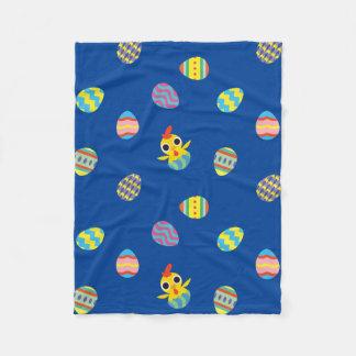 Peekaboo Barn Easter | Easter Egg Pattern Fleece Blanket