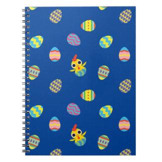 Peekaboo Barn Easter   Easter Egg Pattern Spiral Notebook