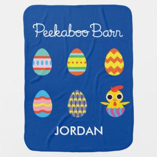 Peekaboo Barn Easter | Easter Eggs Baby Blanket