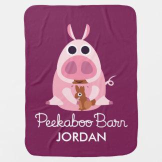 Peekaboo Barn Easter | Leary the Pig Baby Blanket