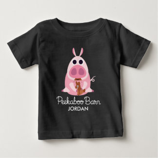 Peekaboo Barn Easter | Leary the Pig Baby T-Shirt