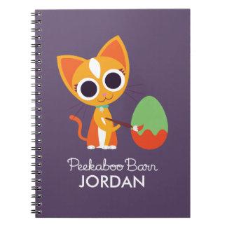 Peekaboo Barn Easter | Purrl the Cat Spiral Notebooks