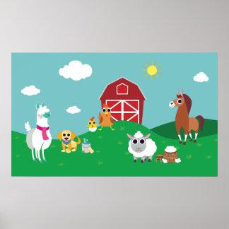 Peekaboo Barn Pasture Group 1 Poster