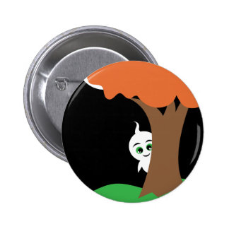 Peekaboo Ghost 6 Cm Round Badge