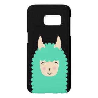 Peekaboo Happy Llama Emoji Samsung Case