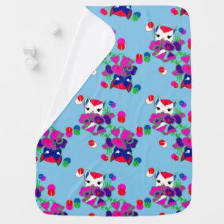 Peekaboo Kitschy Kitty Kawaii Baby Blanket