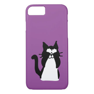Peekaboo Kitty Cat Covering Eyes iPhone 7 Case