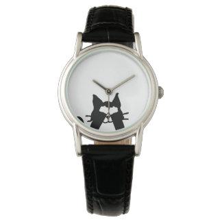 Peekaboo Kitty Cat Covering Eyes Watch